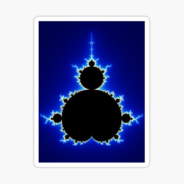 Mandelbrot Set - Blue Sticker