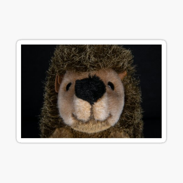 Fabric mask cuddly hedgehog Jens Sticker