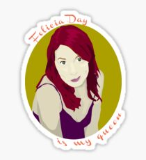 Felicia Day is My Queen Sticker