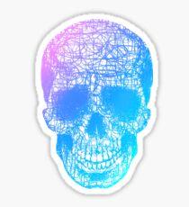 Rainbow Scribble Skull Sticker