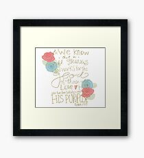 Romans 8:28 - color Framed Print