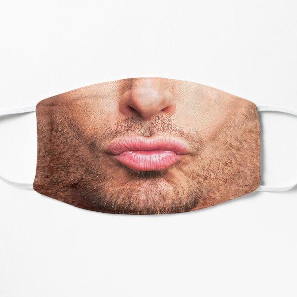 Funny Man Pout Lips Flat Mask