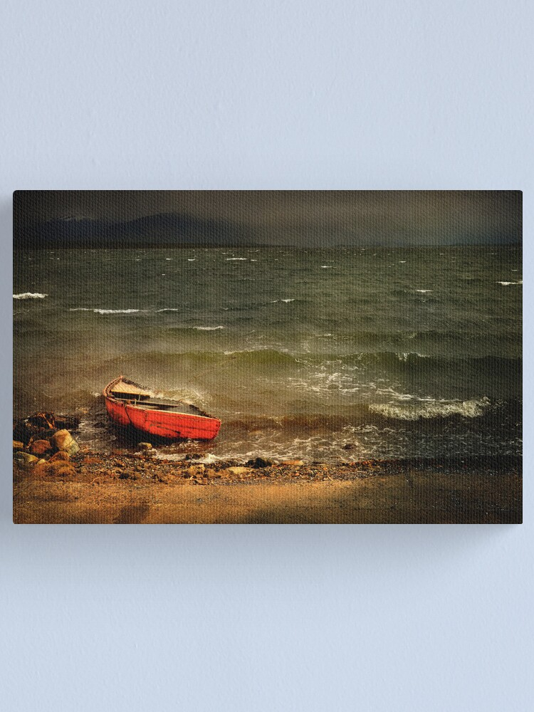 Alternate view of The Red Boat Canvas Print