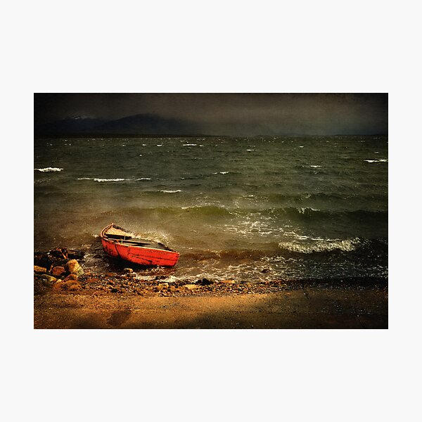 The Red Boat Photographic Print
