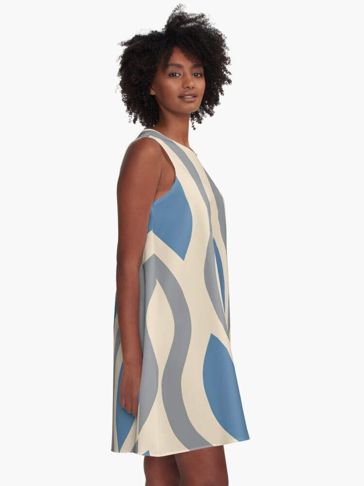 Alternate view of Retro Mid Century Modern Ogee Pattern 282 A-Line Dress