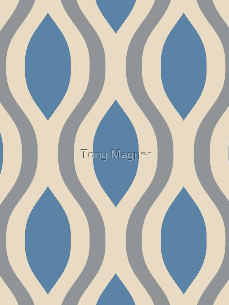 Retro Mid Century Modern Ogee Pattern 282 by tonymagnerart