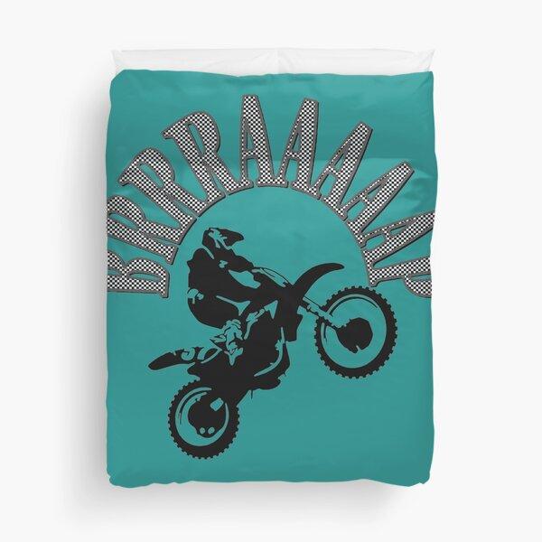 Brrraaaaap Two-Stroke Dirtbike Motorcross Vector Duvet Cover