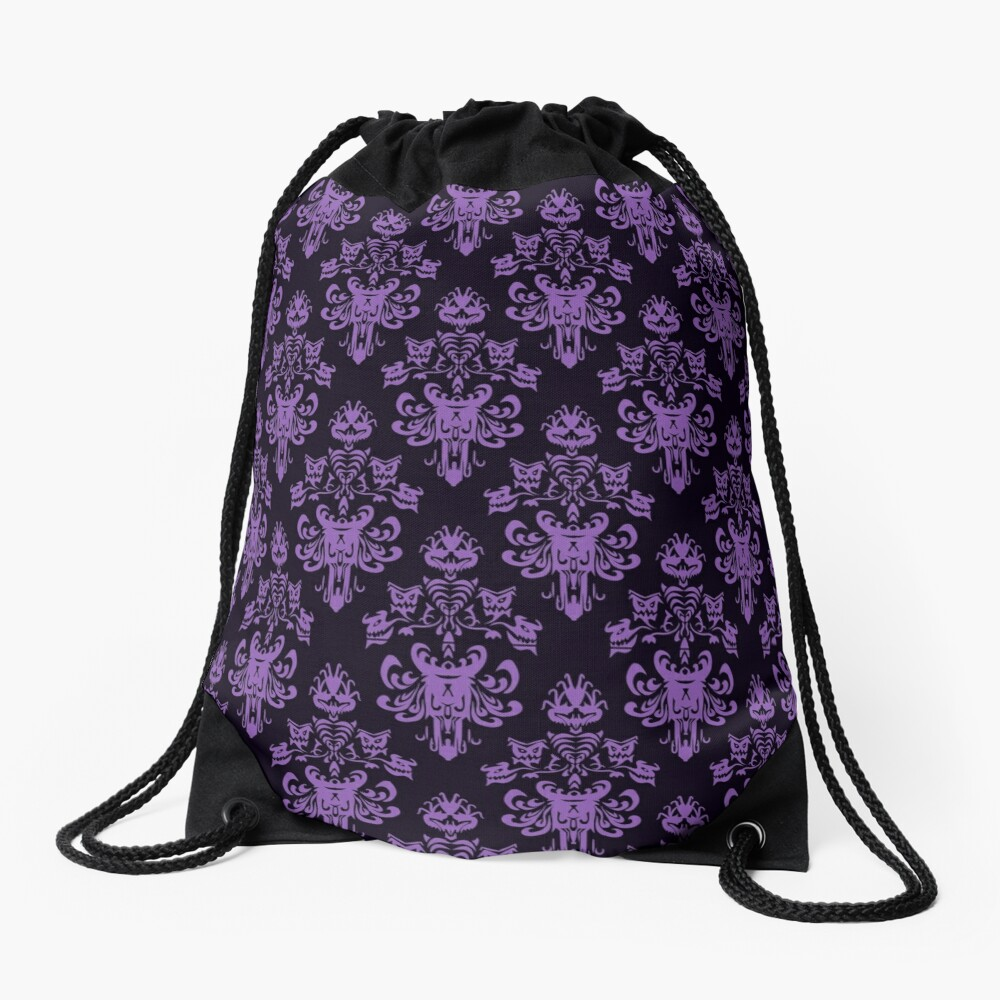 Haunted Wallpaper Drawstring Bag