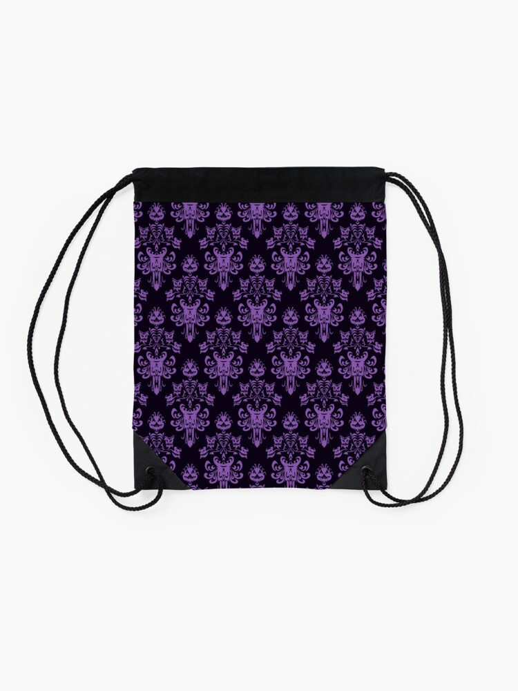 Alternate view of Haunted Wallpaper Drawstring Bag