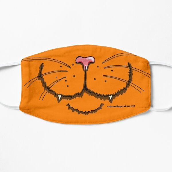 Nosy Cat in Orange Maske