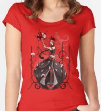 Queen of Hearts: Painting the Roses Red Women's Fitted Scoop T-Shirt