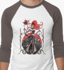Queen of Hearts: Painting the Roses Red Men's Baseball ¾ T-Shirt
