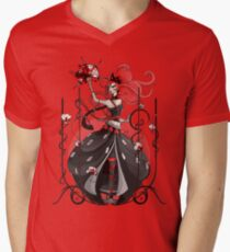 Queen of Hearts: Painting the Roses Red Men's V-Neck T-Shirt