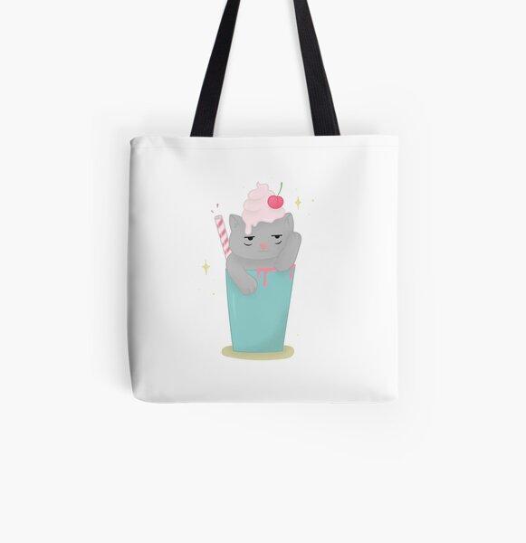 Meowchiato All Over Print Tote Bag