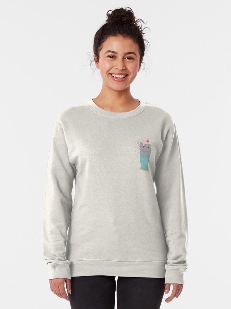 Alternate view of Meowchiato Pullover Sweatshirt