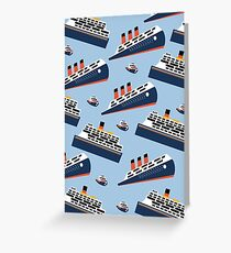 Ferry Boat Scrub Cap Greeting Card