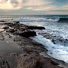 Incoming Waves - Red Bluff Beach - Kalbarri by John Pitman