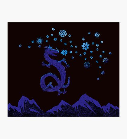 Northern Lights Dragon Photographic Print