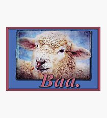 """""""Baa."""" (with background) Photographic Print"""