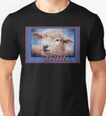 """Baa."" (with background) Unisex T-Shirt"
