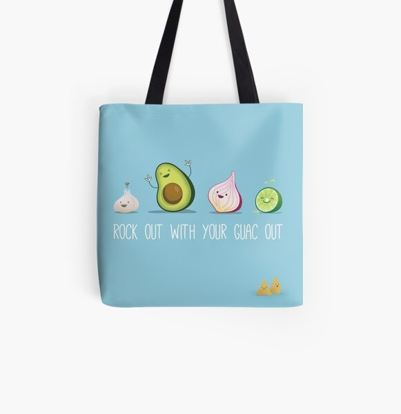 Rock out with your guac out All Over Print Tote Bag
