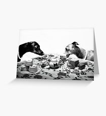 Doggy Tea Party Greeting Card