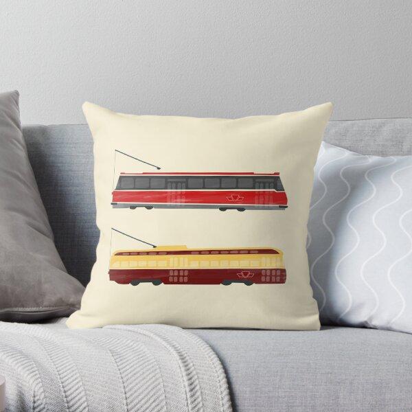 Streetcars Throw Pillow