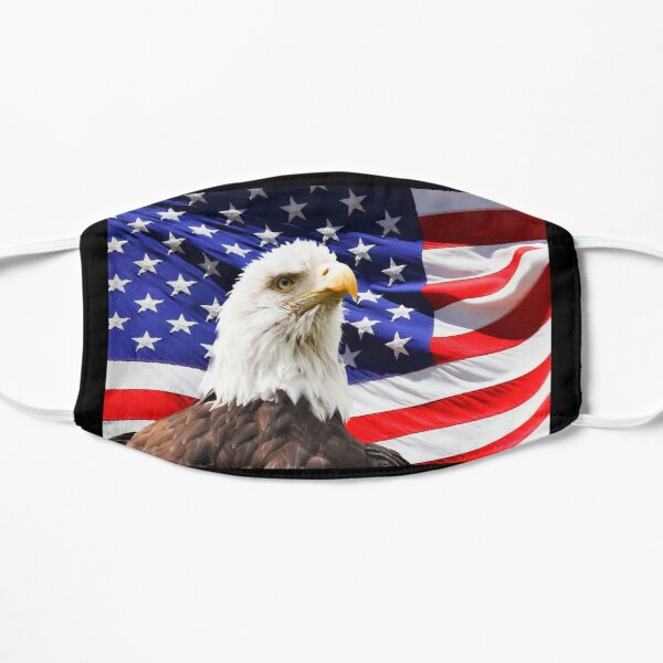 American Flag Usa Flag Eagle Flag Flat Mask