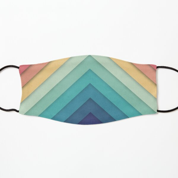 Retro Chevrons 002 Kids Mask