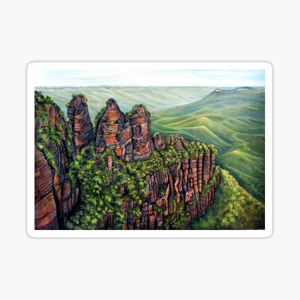Etched in Time, Blue Mountains Sticker