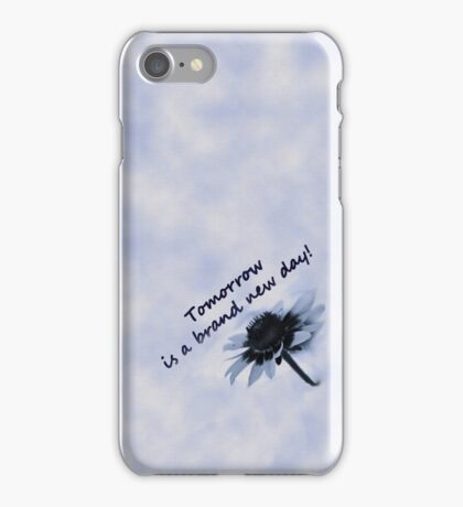 Tomorrow is a Brand New Day--Daisy  Blue Tee iPhone Case/Skin