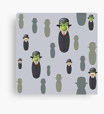 Magritte pattern Canvas Print