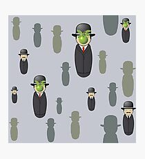 Magritte pattern Photographic Print
