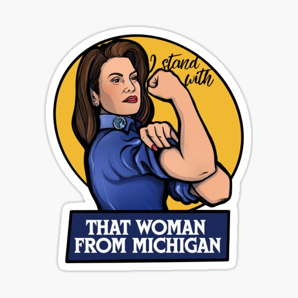 I stand with that woman from Michigan Sticker