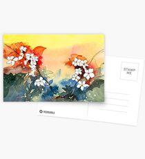 Floral Necklace Postcards