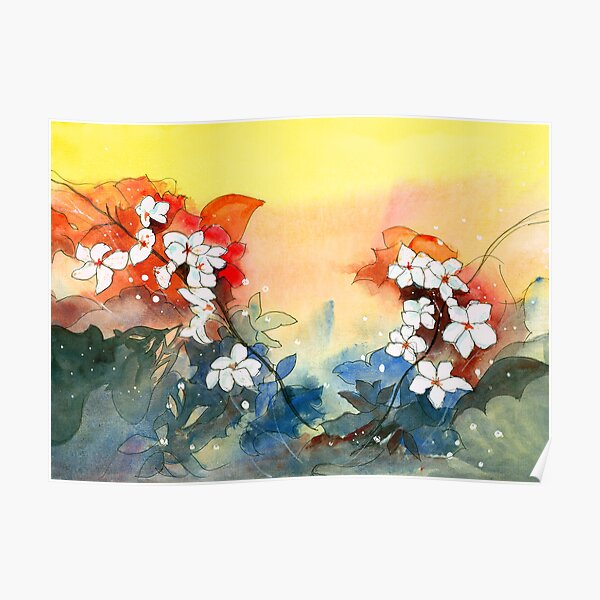 Floral Necklace Poster