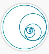 Two Golden Ratio Spirals Sticker