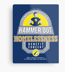 Hammer-Out Homelessness Metal Print