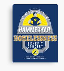 Hammer-Out Homelessness Canvas Print