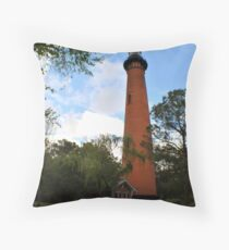 Currituck Lighthouse Throw Pillow