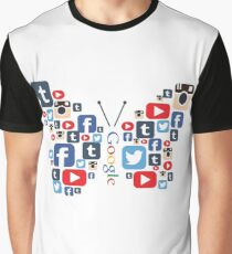 Social Butterfly Graphic T-Shirt