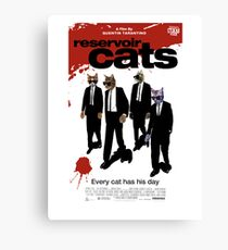 Reservoir Dogs (Cats) Meow Canvas Print