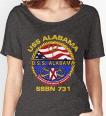 USS Alabama (SSBN-731) Crest for Dark Colors Women's Relaxed Fit T-Shirt