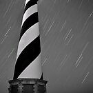 Hatteras Lighthouse (b&w) by Robin Black