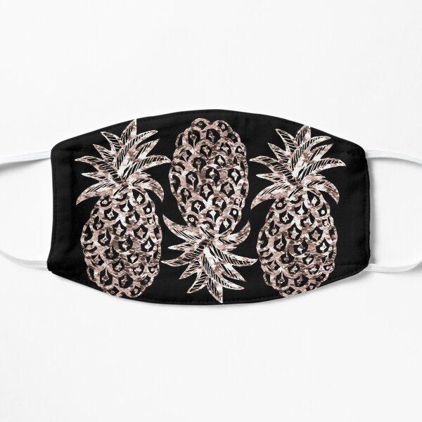 Rose gold Metallic Pineapple on black fashion & home decor by Magenta Rose Design Mask