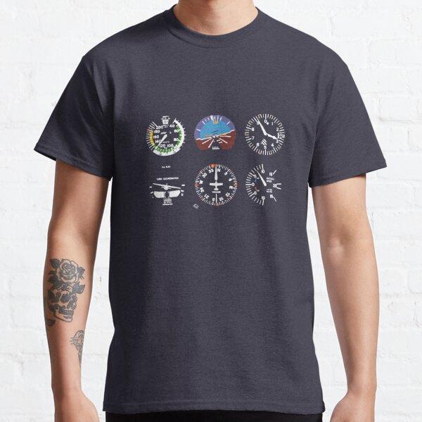 Cockpit Six Dials Flight Simulator Pilot Classic T-Shirt