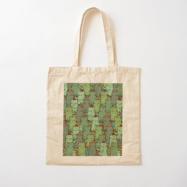 Catcus Garden Cotton Tote Bag