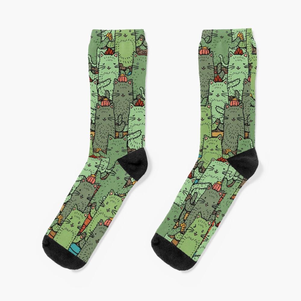 Catcus Garden Socks