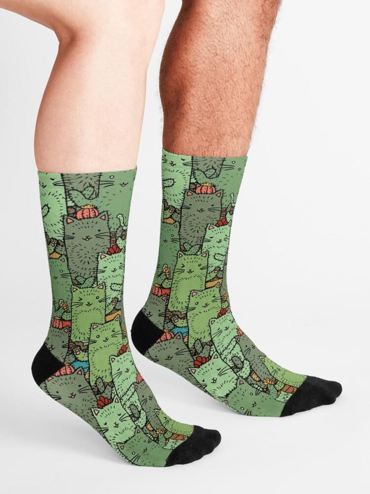 Alternate view of Catcus Garden Socks