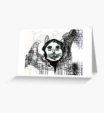 T.H. E. Anthropomorphic Cat Greeting Card